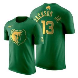 2020 St. Patrick's Day Memphis Grizzlies Jaren Jackson Jr. #13 Green Golden Limited T-shirt