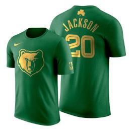 2020 St. Patrick's Day Memphis Grizzlies Josh Jackson #20 Green Golden Limited T-shirt