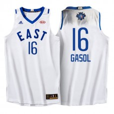 2016 All-Star Eastern Bulls #16 Pau Gasol White Jersey