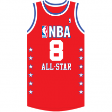 2003 NBA All-Star Kobe Bryant #8 Red Jersey
