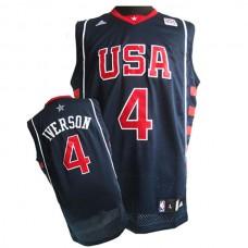 Allen Iverson 2004 Olympics USA Dream Team #4 Swingman Blue Jersey