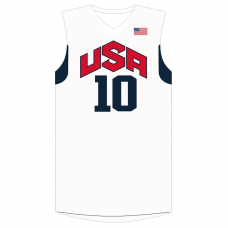 2012 Olympics Team USA Kobe Bryant #10 Home White Basketball Jersey
