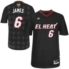LeBron James Miami Heat #6  2014 Noches Enebea Swingman Black Jersey