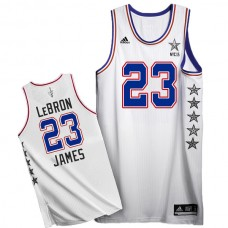 LeBron James 2015 NBA NYC All-Star Eastern Conference #23 White Jersey