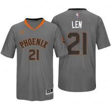 2016-17 Season Alex Len Phoenix Suns #21 New Swingman Charcoal Pride Sleeved Jersey