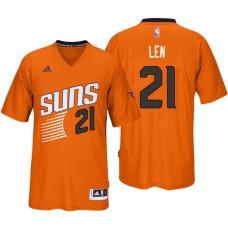 2016-17 Season Alex Len Phoenix Suns #21 New Swingman Orange Pride Sleeved Jersey