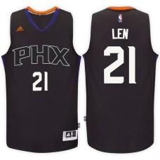 2016-17 Season Alex Len Phoenix Suns #21 New Swingman Alternate Black Jersey