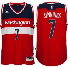 2016-17 Season Brandon Jennings Washington Wizards #7 New Swingman Road Red Jersey