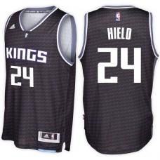 2016-17 Season Buddy Hield Sacramento Kings #24 New Swingman Alternate Black Jersey