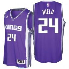 2016-17 Season Buddy Hield Sacramento Kings #24 New Swingman Road Purple Jersey