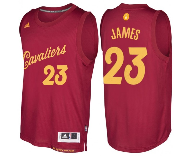 NBA Cleveland Cavaliers #23 LeBron James Burgundy 2016-17 ...
