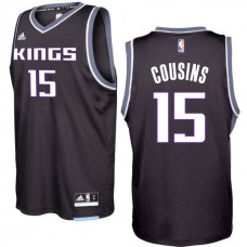 2016-17 Season DeMarcus Cousins Sacramento Kings #15 New Swingman Alternate Black Jersey