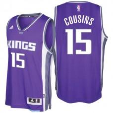 2016-17 Season DeMarcus Cousins Sacramento Kings #15 New Swingman Road Purple Jersey