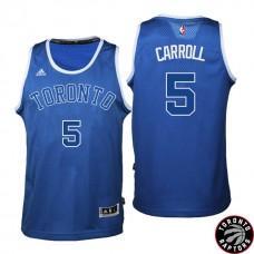2016-17 Season DeMarre Carroll Toronto Raptors #5 Huskies New Alternate Blue Jersey