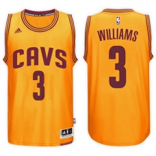 2016-17 Season Derrick Williams Cleveland Cavaliers #3 New Swingman Alternate Gold Jersey