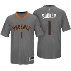 2016-17 Season Devin Booker Phoenix Suns #1 New Swingman Charcoal Pride Sleeved Jersey