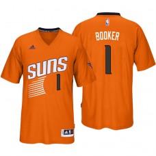 2016-17 Season Devin Booker Phoenix Suns #1 New Swingman Orange Pride Sleeved Jersey