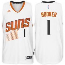 2016-17 Season Devin Booker Phoenix Suns #1 New Swingman Home White Jersey