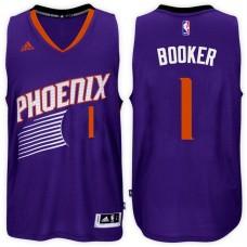 2016-17 Season Devin Booker Phoenix Suns #1 New Swingman Road Purple Jersey