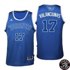 2016-17 Season Jonas Valanciunasl Toronto Raptors #17 Huskies New Alternate Blue Jersey