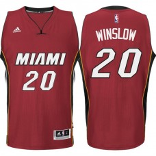 2016-17 Season Justise Winslow Miami Heat #20 New Swingman Road Red Jersey