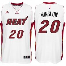 2016-17 Season Justise Winslow Miami Heat #20 New Swingman Home White Jersey