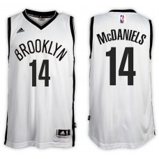2016-17 Season K.J. McDaniels Brooklyn Nets #14 New Swingman Home White Jersey