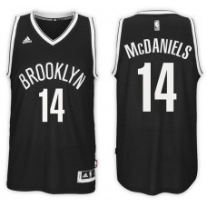 2016-17 Season K.J. McDaniels Brooklyn Nets #14 New Swingman Road Black Jersey