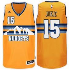 2016-17 Season Nikola Jokic Denver Nuggets #15 New Swingman Alternate Gold Jersey