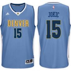 2016-17 Season Nikola Jokic Denver Nuggets #15 New Swingman Road Light Blue Jersey