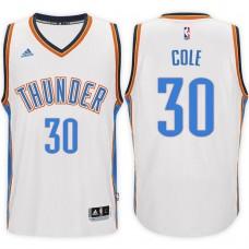 2016-17 Season Norris Cole Oklahoma City Thunder #30 New Swingman Home White Jersey
