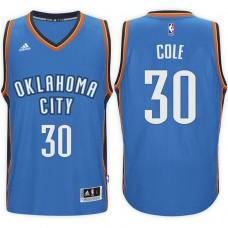 2016-17 Season Norris Cole Oklahoma City Thunder #30 New Swingman Road Blue Jersey