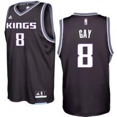 2016-17 Season Rudy Gay Sacramento Kings #8 New Swingman Alternate Black Jersey
