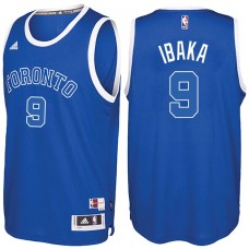 2016-17 Season Serge Ibaka Toronto Raptors #9 New Swingman Alternate Blue Jersey