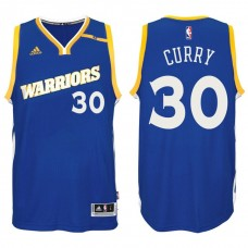 2016-17 Season Stephen Curry Golden State Warriors #30 New Swingman Crossover Alternate Blue Jersey
