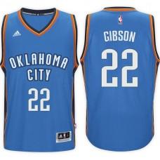 2016-17 Season Taj Gibson Oklahoma City Thunder #22 New Swingman Road Blue Jersey
