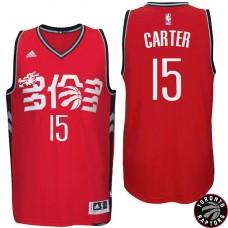 2016-17 Season Vince Carter Toronto Raptors #15 Chinese New Year Alternate Red Jersey