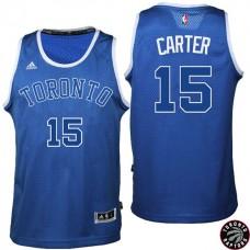 2016-17 Season Vince Carter Toronto Raptors #15 Huskies New Alternate Blue Jersey