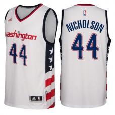 2016-17 Season Washington Wizards #44 Star & Stripes White Alternate New Swingman Jersey-Andrew Nicholson