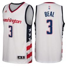 2016-17 Season Washington Wizards #3 Star & Stripes White Alternate New Swingman Jersey-Bradley Beal