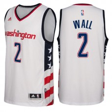 2016-17 Season Washington Wizards #2 Star & Stripes White Alternate New Swingman Jersey-John Wall