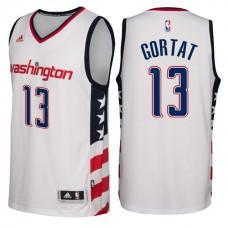 2016-17 Season Washington Wizards #13 Star & Stripes White Alternate New Swingman Jersey-Marcin Gortat