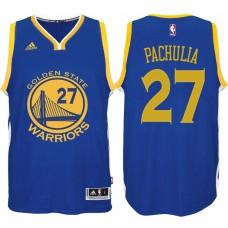 2016-17 Season Zaza Pachulia Golden State Warriors #27 New Swingman Road Blue Jersey