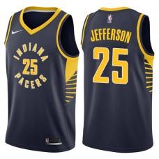 2017-18 Season Al Jefferson Indiana Pacers #25 Icon Navy Swingman Jersey