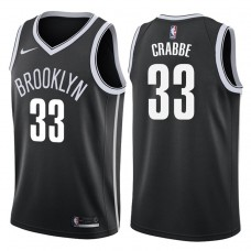2017-18 Season Allen Crabbe Brooklyn Nets #33 Icon Black Swingman Jersey