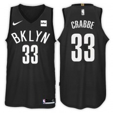 2017-18 Season Allen Crabbe Brooklyn Nets #33 Statement Black Swingman Jersey