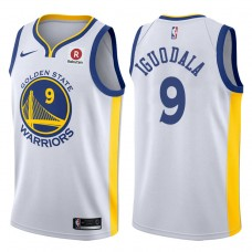 2017-18 Season Andre Iguodala Golden State Warriors #9 Association Rakuten White Jersey