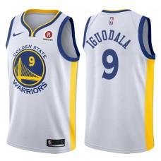 2017-18 Season Andre Iguodala Golden State Warriors #9 Association Rakuten White Jersey