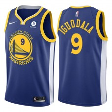 2017-18 Season Andre Iguodala Golden State Warriors #9 Icon Rakuten Royal Jersey