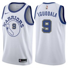 2017-18 Andre Iguodala Golden State Warriors #9 White Hardwood Classic Edition Swingman Jersey